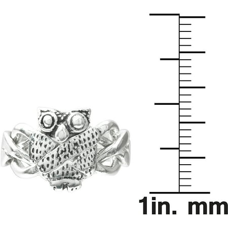 Brinley Co. Sterling Silver Owl Puzzle Ring