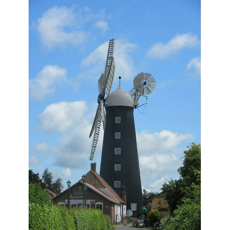 LAMINATED POSTER Tower Mill Wind Propeller Sustainable Windmill Poster Print 24 x (Best Windmill Propeller Design)