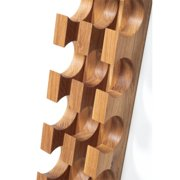 Woodek Design Contemporary 6 Bottle Wall Mounted Wooden Wine Rack