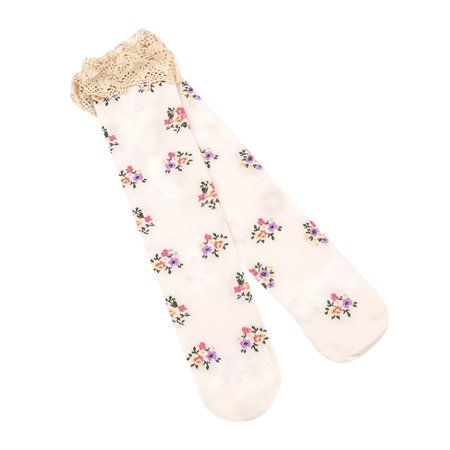 - Kid's Girl's Baby Princess Lace Floral Boot Socks Winter Knee High Warm Socks