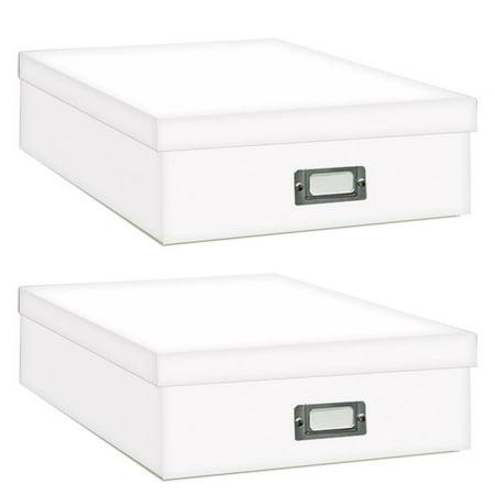 Pioneer Jumbo Scrapbook Storage Box, Crafters White, 14 3/4