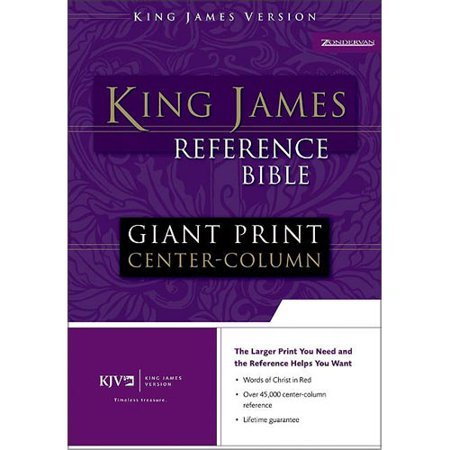 Holy Bible: King James Version, Navy, Bonded Leather, Giant Print Center-Column Reference Bible