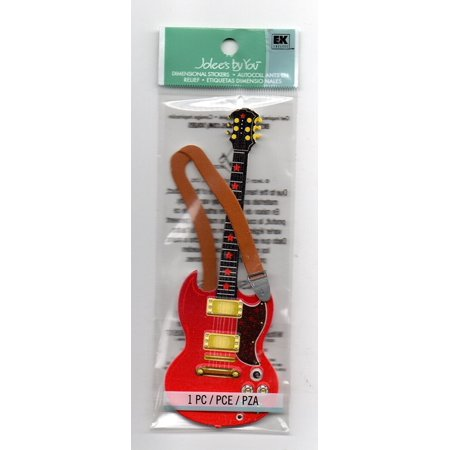 Jolee's By You Dimensional Sticker Electric Guitar Rock and Roll Theme By EK Success