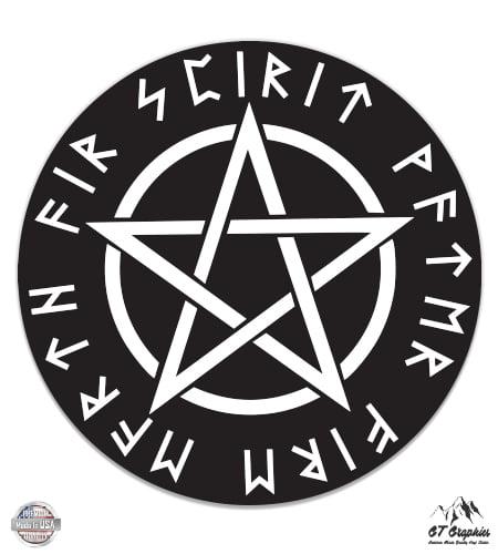Waterproof Decal GT Graphics Black Sun Viking Rune 5 Vinyl Sticker for Car Laptop I-Pad