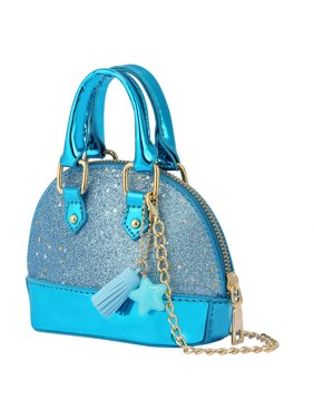 HDE Glitter Purse Princess Small Crossbody Dome Fashion Purse for Little Girls