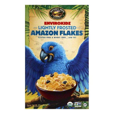 Natures Path Lightly Frosted Amazon Flakes Cereal, 14 OZ (Pack of 12)
