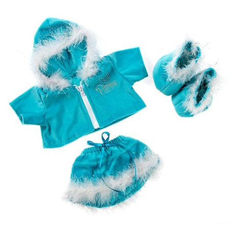 Blue Princess Sparkle Outfit w/Blue Boots Teddy Bear Clothes Fits Most 14