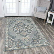 Rizzy Home RS933A Gray 9' x 12' Hand-Tufted Area Rug