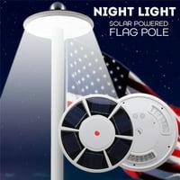 Waterproof 42 LED Solar Flagpole Light Solar Power Flag Pole Light Energy Saving Long-lasting Night Light For Most 15 to 25 Ft Flag Pole White