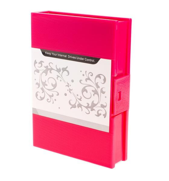 NEON Hard Protective Storage Case for 3.5-inch hard drive / SSD - Red