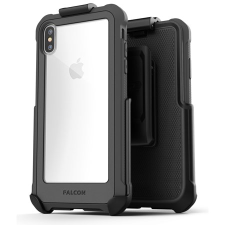 iPhone XS Max Belt Clip Clear Case with Holster, Protective Cover (Falcon) Gray Cover Case Clear Belt Clip