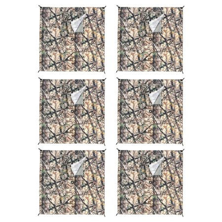 Only Camo (Clam Quick-Set Screen Hub Camo Fabric Wind & Sun Panels, Accessory Only (6 Pack) )