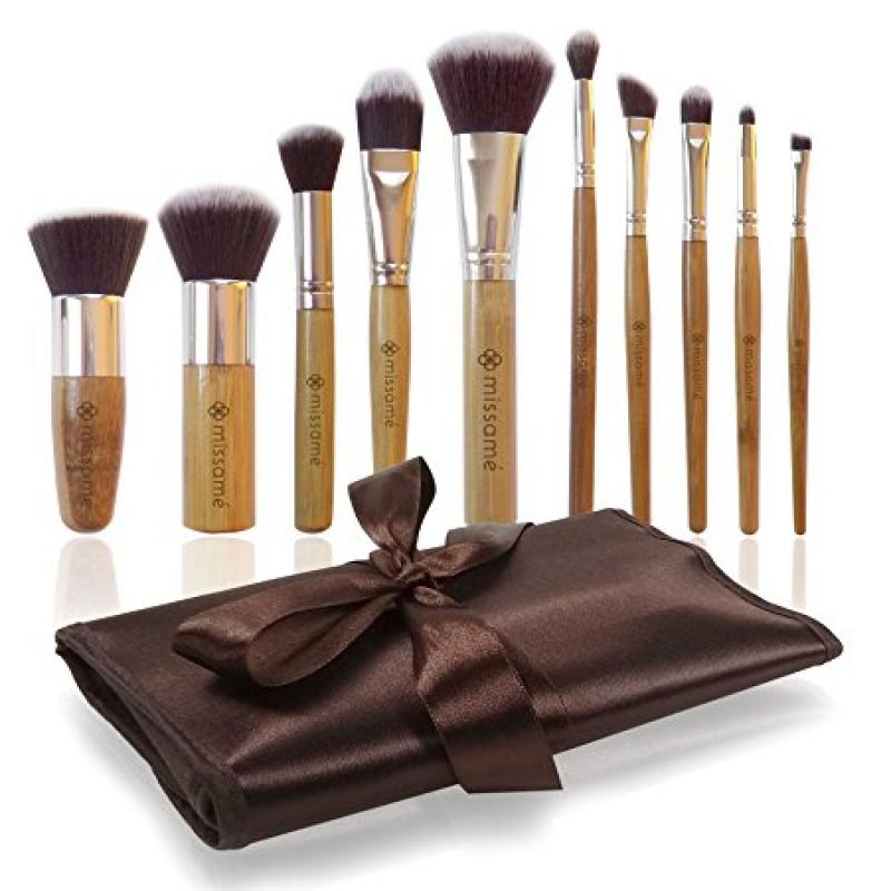 Missamé 10 Pcs Makeup Brushes For Face And Eye Cosmetics,...