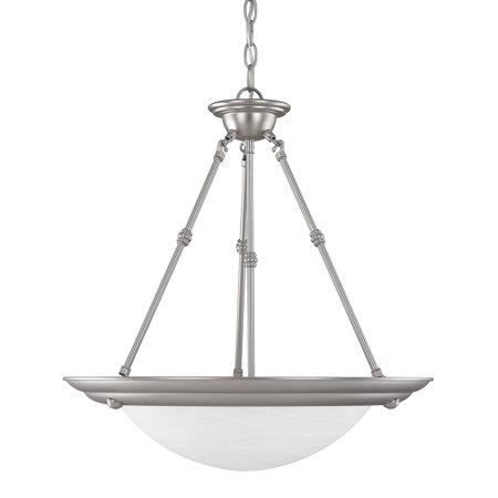 Capital Lighting  Matte Nickel 3 Light Pendant