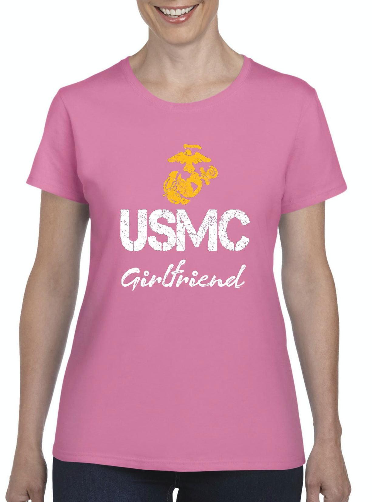 ea2fc53b Artix - T-Shirt USMC Girlfriend Proud U.S. Marines Fight to Win ...
