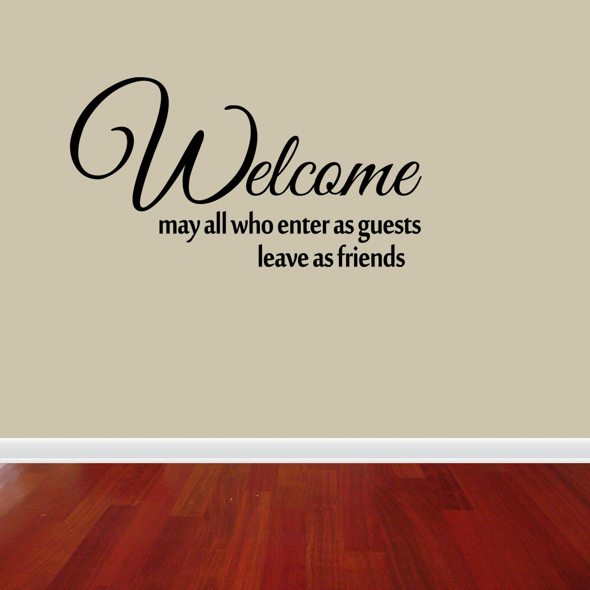 Welcome Enter As Guests Vinyl Wall Decal Quote Sticker Decor Inspirational J597