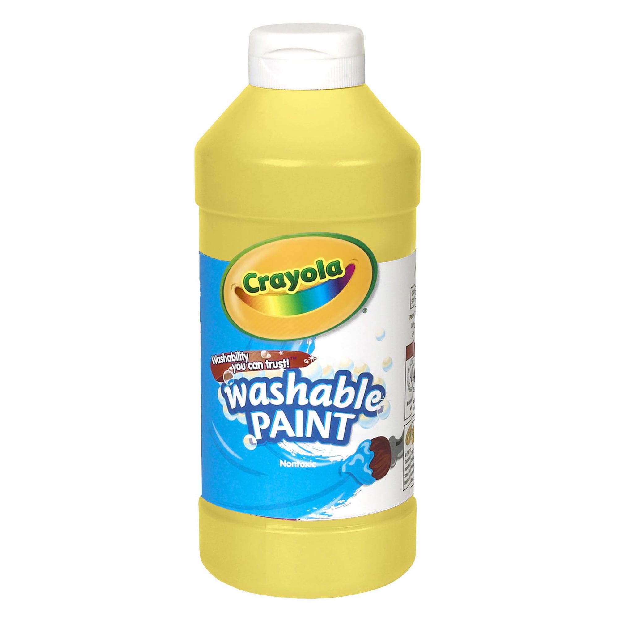 Crayola Washable Paint, Yellow, 16 Oz, Set Of 6 Bottles