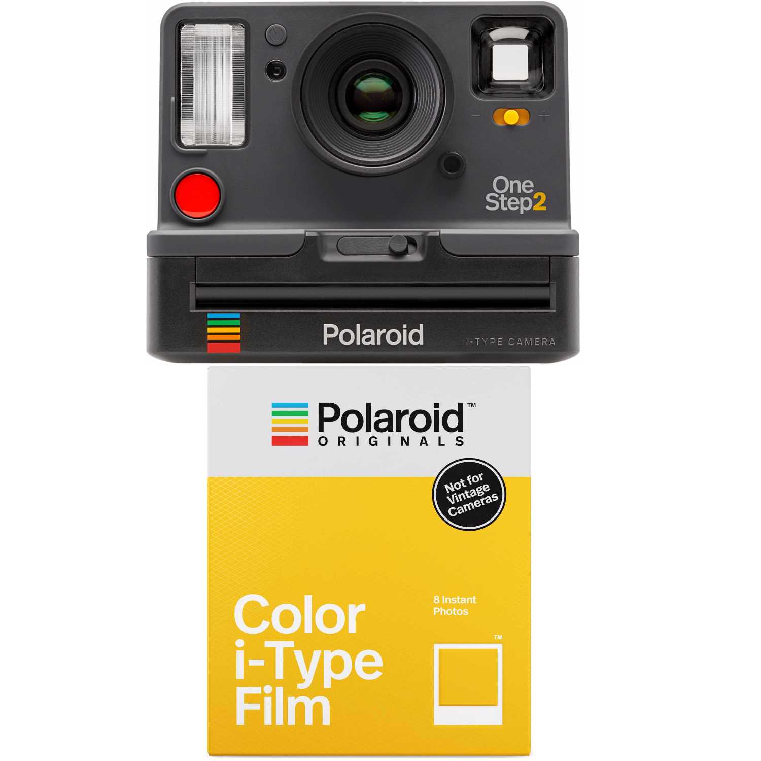 Polaroid OneStep2 i-Type Rechargeable VF Camera (Graphite Grey) with Color Film by Polaroid Originals