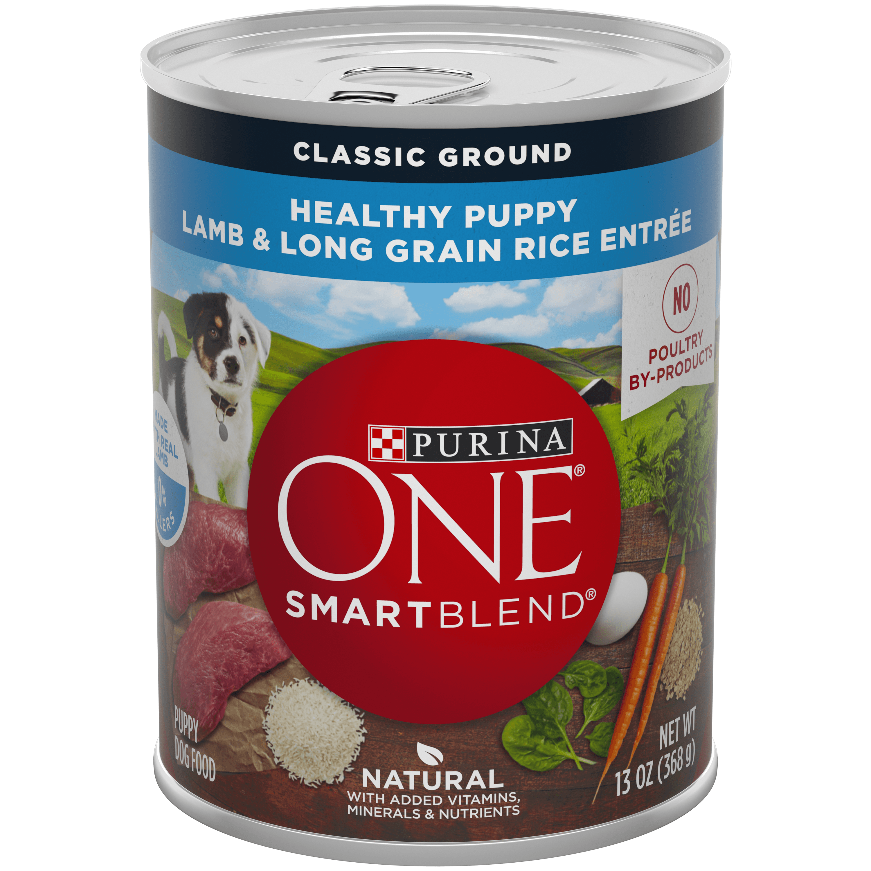 Purina ONE Natural Pate Wet Puppy Food; SmartBlend Healthy Puppy Lamb & Long Grain Rice Entree - 13 oz. Can