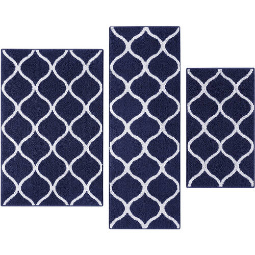 Mainstays Sheridan Fret 3-Piece Accent Rug Set, Multiple Colors