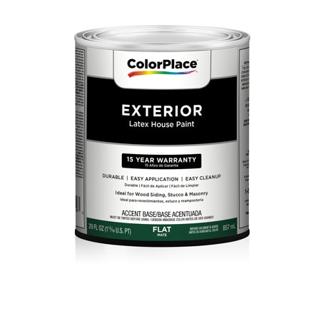 Colorplace Accent Base Flat Exterior Paint Qt