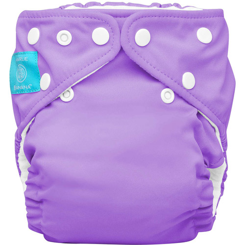 Charlie Banana 2-in-1 Reusable Diapering System, 1 Diaper and 2 Inserts, (One Size),Lavender