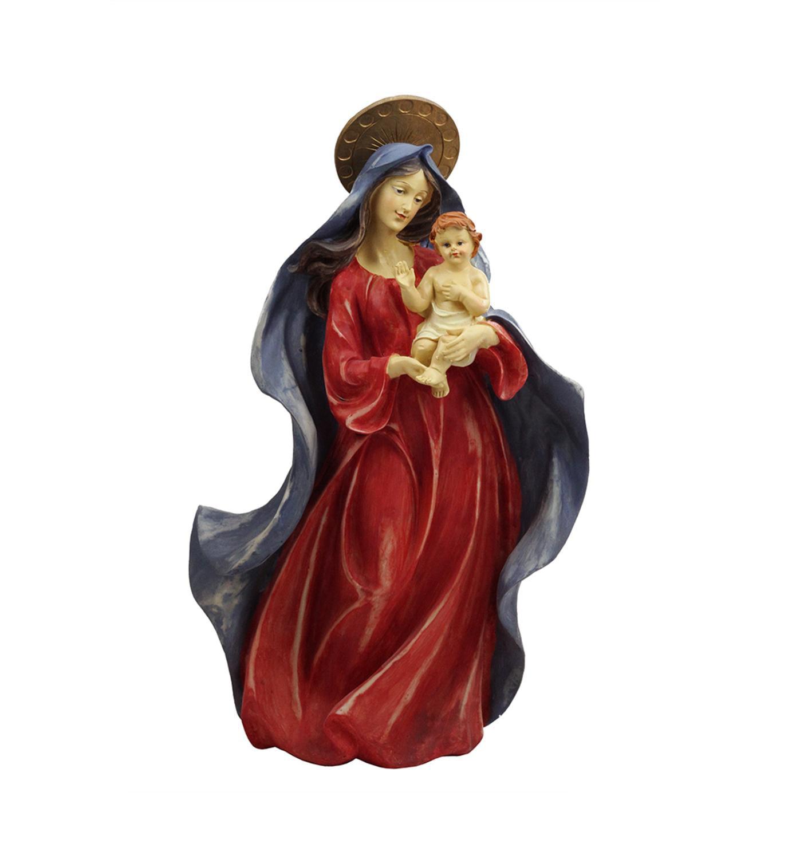"18.5"" Religious Virgin Mary with Baby Jesus Christmas Nativity Figure"