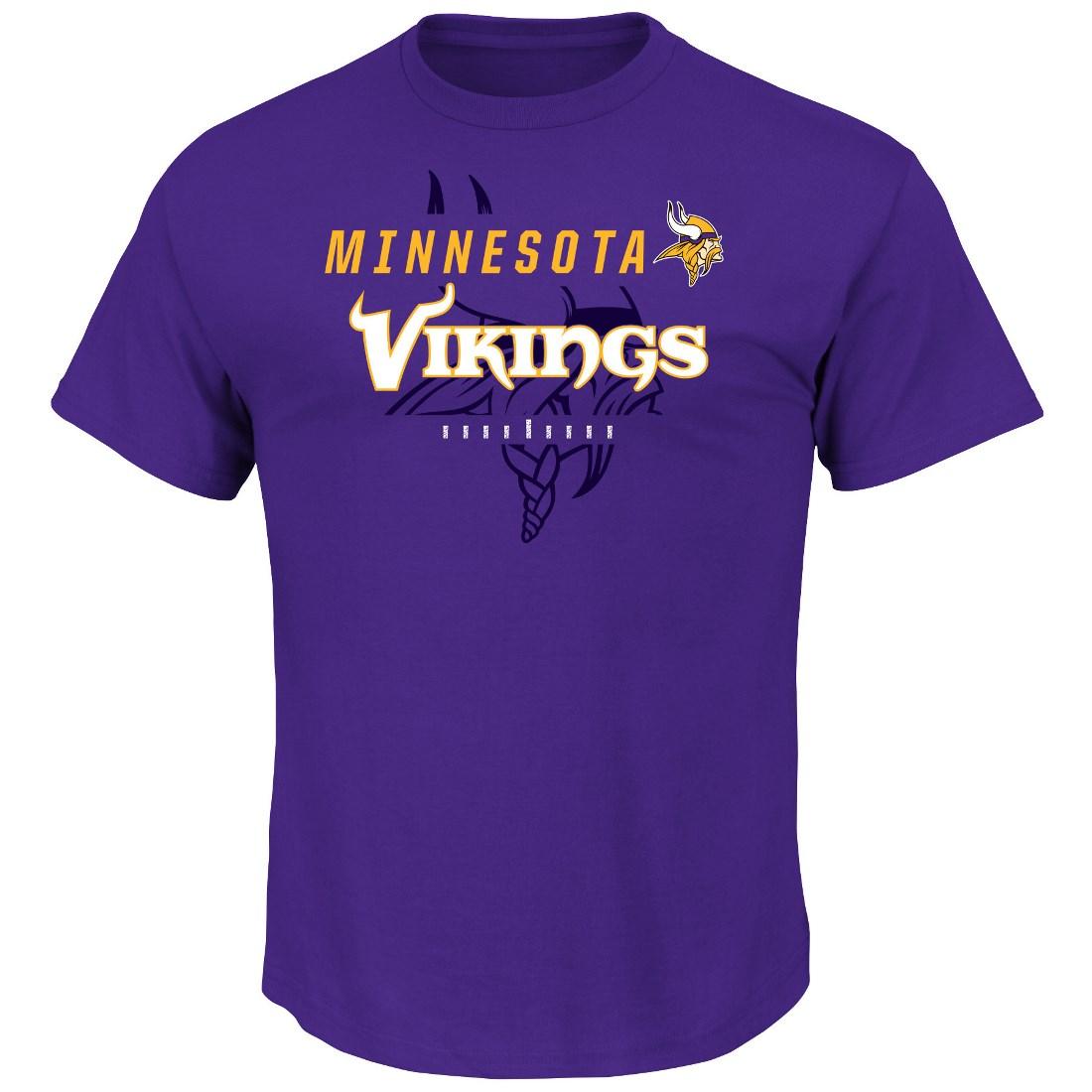 "Minnesota Vikings Majestic NFL ""Of Great Value"" Men's Short Sleeve T-Shirt"