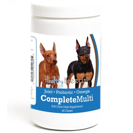 Healthy Breeds 192959010695 Miniature Pinscher all in one Multivitamin Soft Chew - 90 Count - image 1 of 1