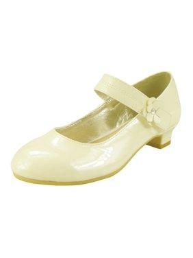 The Doll Maker Girl's Ankle Strap Medium Low Heel Mary Jane Dress Pump (Little Kid/Big Kid) - TD193015C-12