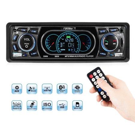 Automobile Bluetooth Multi-functional Car MP3 Player FM Radio USB AUX TF Car Player (Black) ()