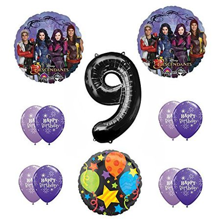 - Disney The Descendants 9th Happy Birthday Party supplies Balloon Decoration Kit
