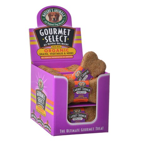 Natures Animals Gourmet Select Organic Dog Bone - Carrot Flavor 24 Pack - Pack of 3 (Carrot Flavor Bone)