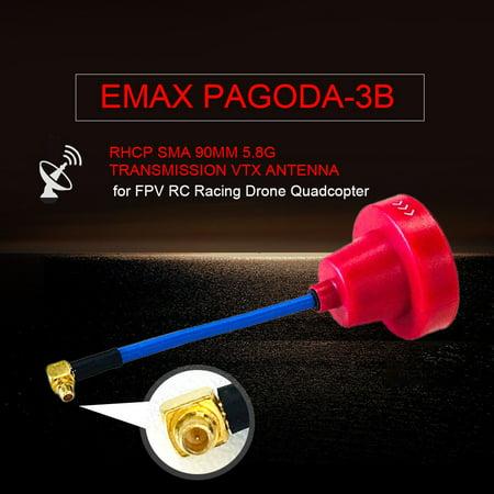 EMAX Pagoda-3B RHCP SMA 30mm Transmission FPV Antenna VTX for FPV RC Racing Drone Quadcopter - image 1 of 1