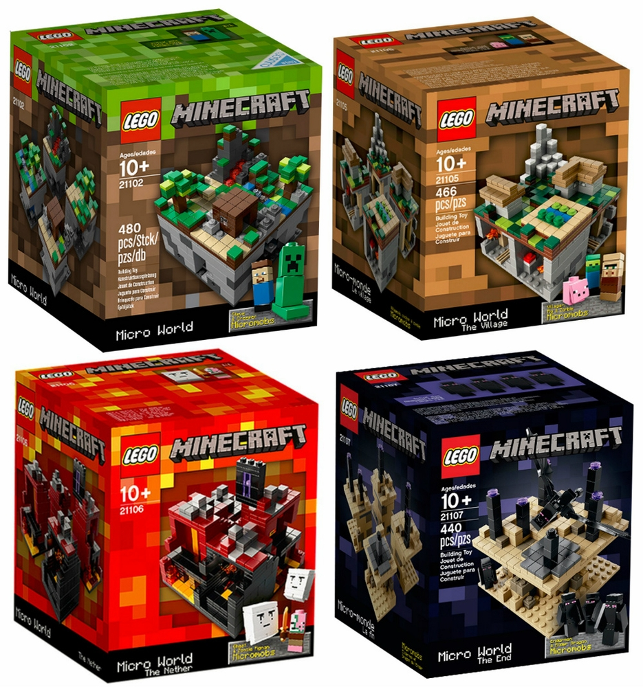 Lego Minecraft Minecraft Collection [21102, 21105, 21106, 21107] by