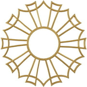 "Ekena Millwork 18""OD x 6 3/8""ID x 1/2""P Augustus Architectural Grade PVC Pierced Ceiling Medallion, Gold"
