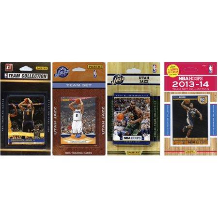 Nba Utah Jazz 4 Different Licensed Trading Card Team Sets