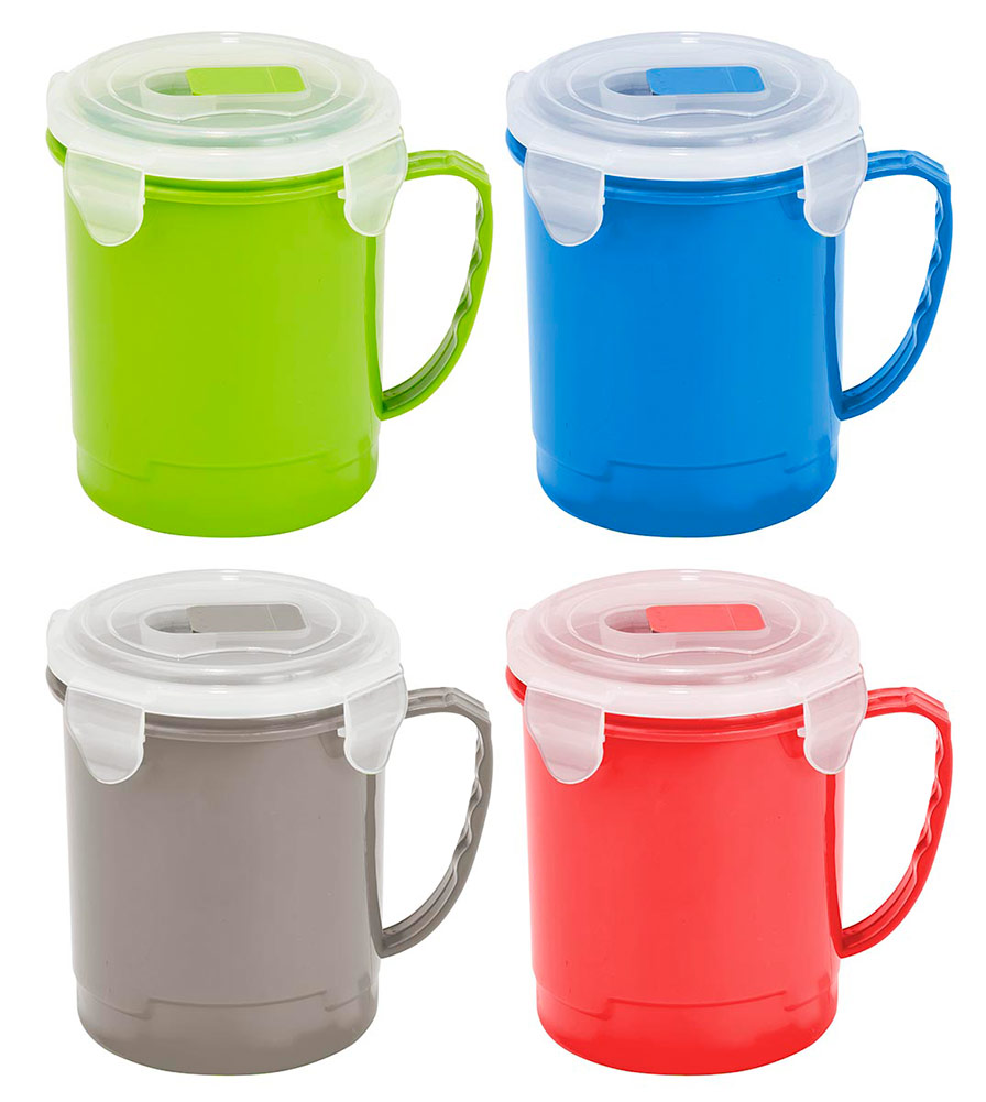 Kitchen Details Microwaveable Soup Mug Cup, 24 Ounces, Colors May Vary