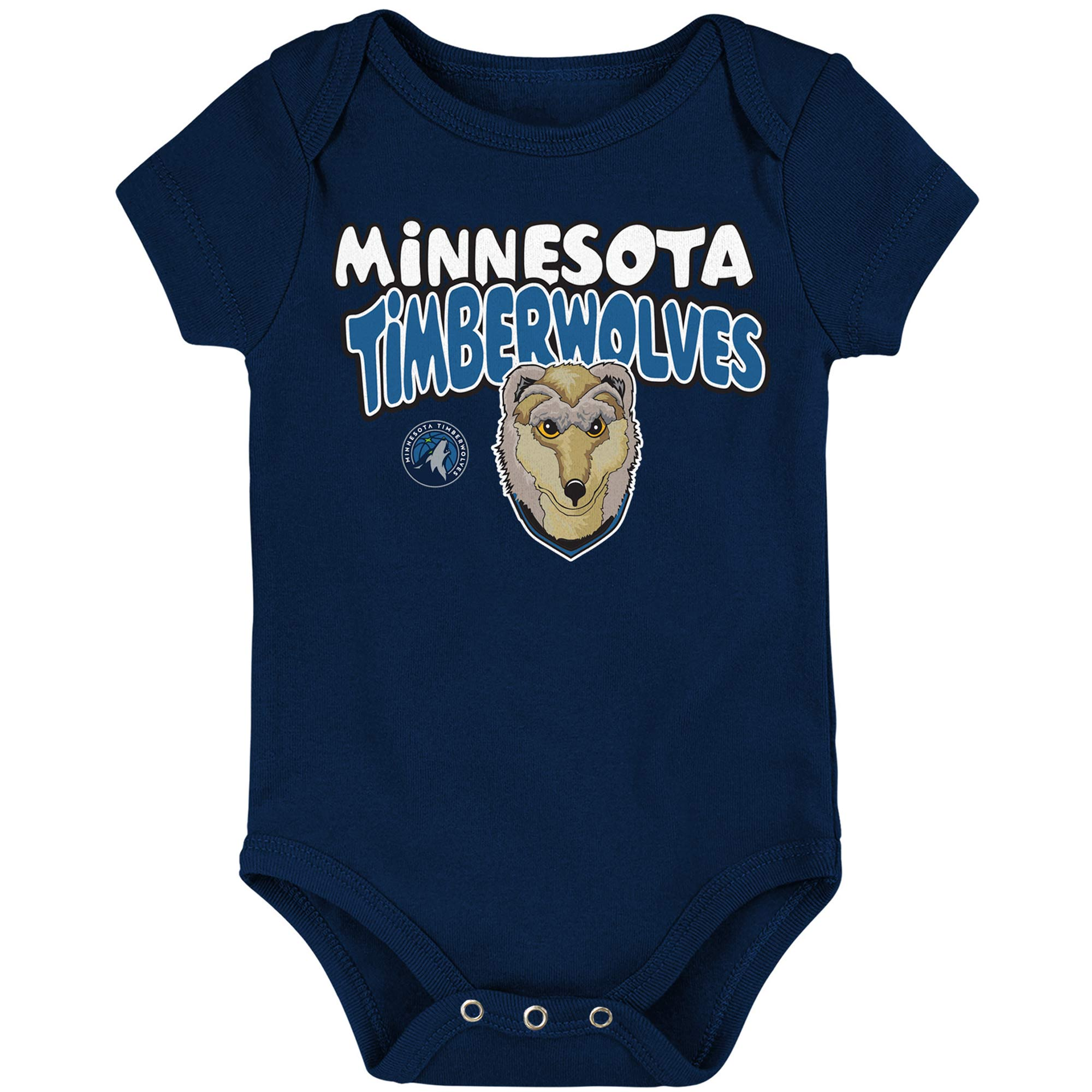 Minnesota Timberwolves Infant Bubble Letter Bodysuit - Navy