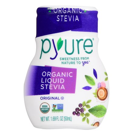 (2 Pack) Pyure Organic Liquid Stevia, 1.69 Fluid (Nunaturals White Stevia Powder Packets)