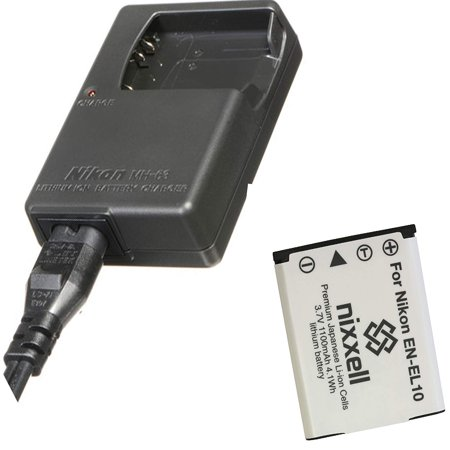 Nikon MH 63 Quick Charger for Nikon EN EL10 and Nikon Coolpix S60 S80 S200 S210 S220 S230 S500 S510 S5