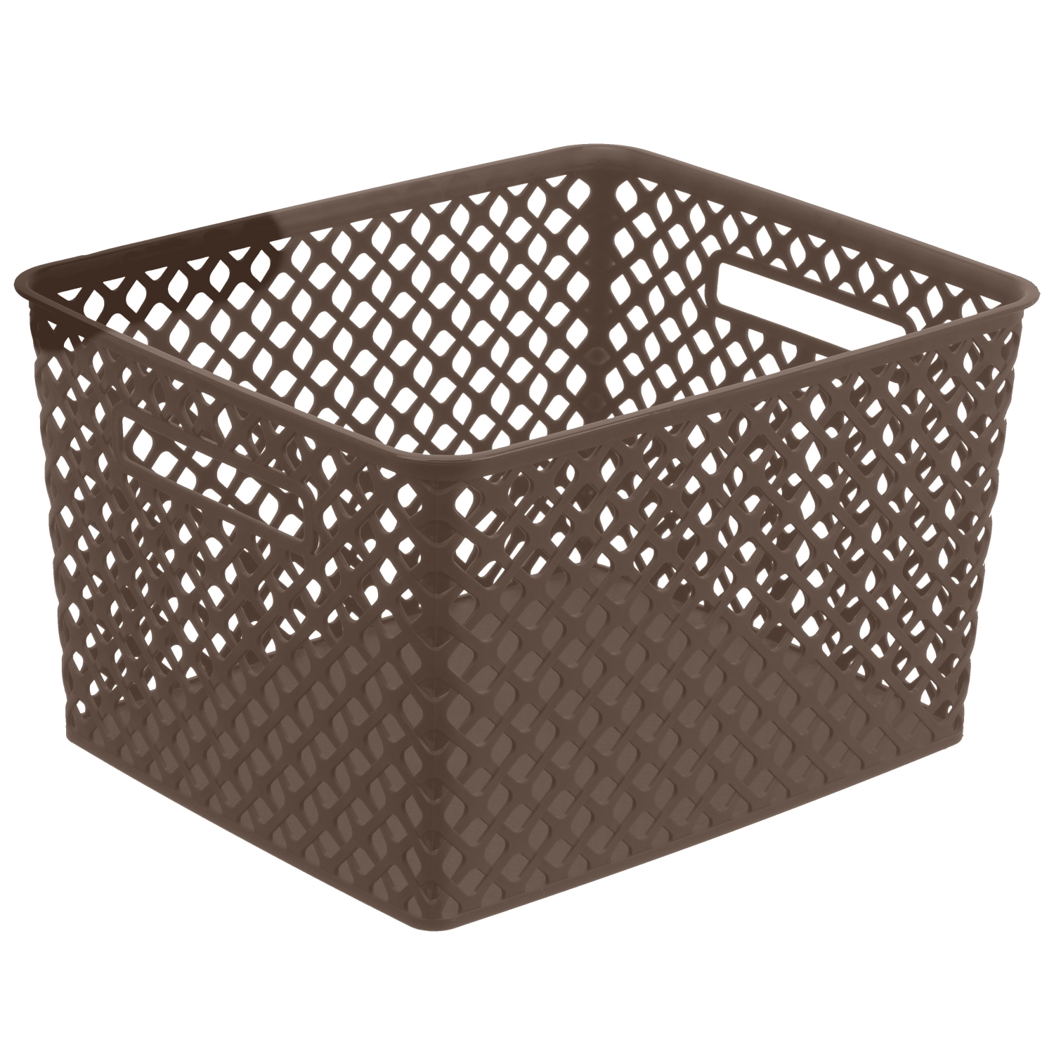Mainstays Large Deco Basket - Brown
