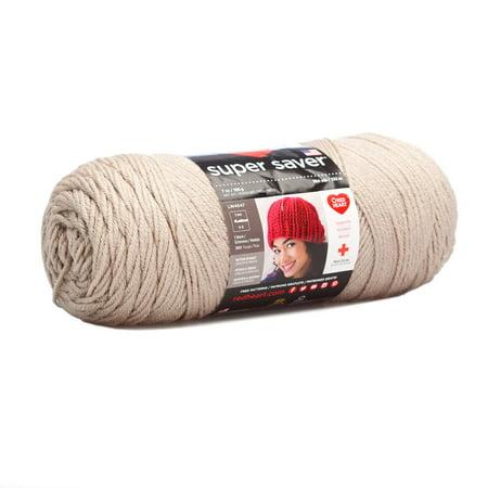 Red Heart Acrylic Super Saver Oatmeal Yarn, 1 Each