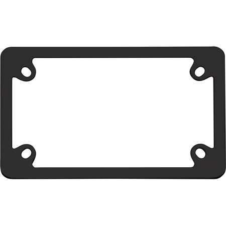 Motorcycle License Plate - 77050 Black MC Neo License Plate Frame, A simple, yet clean black frame to accent the look of your motorcycle license plate By Cruiser Accessories