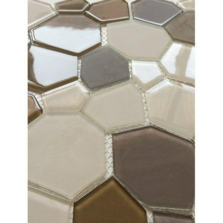 EKBInnovations Upscale Designs 11.5-inch Glass Mesh-Mounted Mosaic Wall Tile (6 sheets) 6 (Glass Mosaic Sheets)