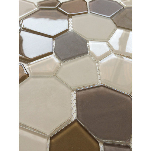 EKBInnovations Upscale Designs 11.5-inch Glass Mesh-Mounted Mosaic Wall Tile (6 sheets)