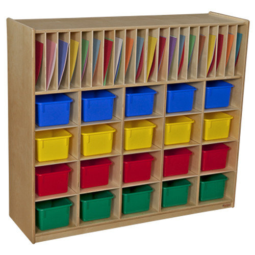 Wood Designs Multi-Storage with 20 Trays