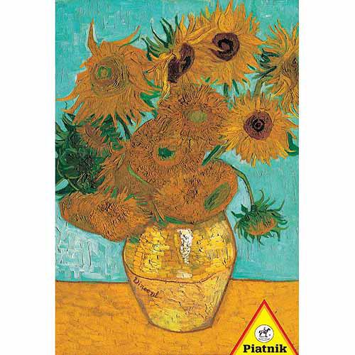 Van Gogh Vase with Twelve Sunflowers, 1000 Pieces