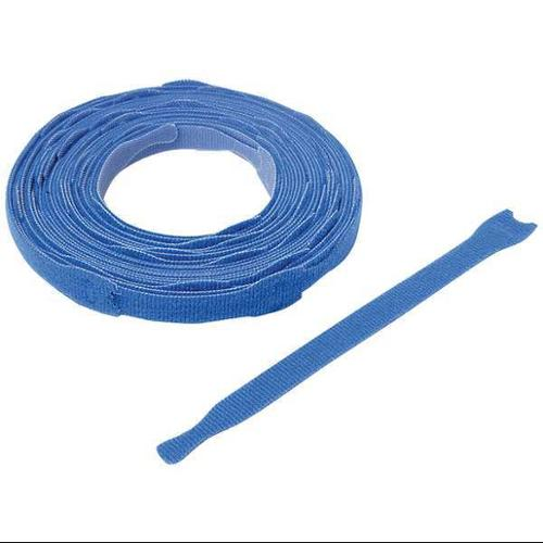 "VELCRO BRAND 3/4"" W x 8"" L Hook-and-Loop Blue Reclosable Fastener Strap, 900 pk., 176040"