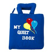 cp toys interactive sensory quiet book - features 8 skill-building activities - safe, fun, and educational for all ages